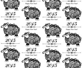 2015 sheep year background creative vector 01