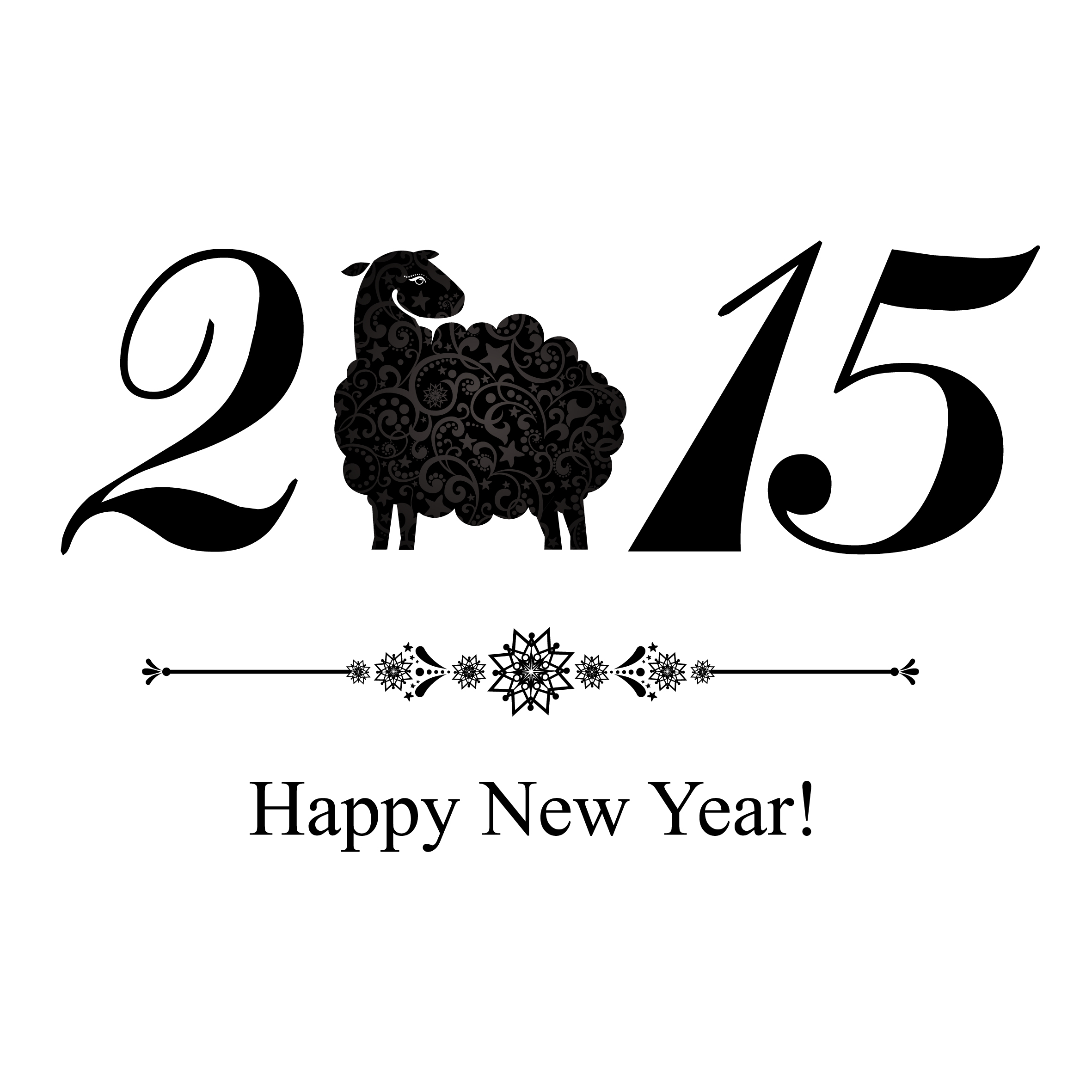 2015 sheep year background creative vector 03