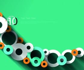 3D circle background design vector 02
