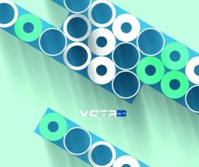 3D circle background design vector 03