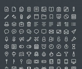 440 Kind white line free icons