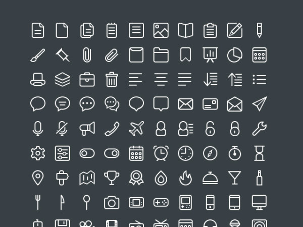 440 Kind White Line Free Icons Icons Psd File Vector
