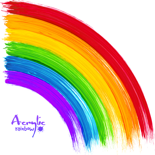 Beautiful rainbow paint design vector 02 vector other for Arcobaleno design