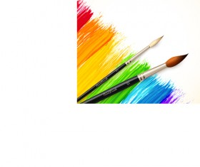 Beautiful rainbow paint design vector 04