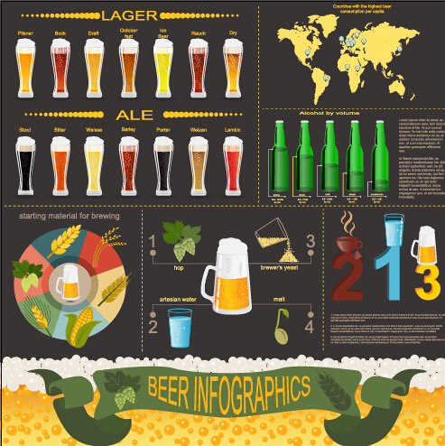 Beer infographic business template vector 01 over millions vectors beer infographic business template vector 01 toneelgroepblik Choice Image