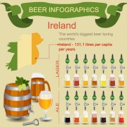 Beer infographic business template vector 02