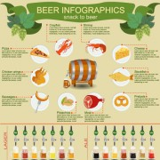 Beer infographic business template vector 03