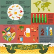 Beer infographic business template vector 05