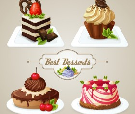 Best desserts vector icons graphics 01