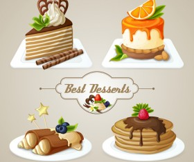 Best desserts vector icons graphics 02