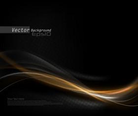 Black dynamic wave vector background