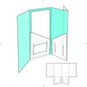 Blank paper package print template vector 03