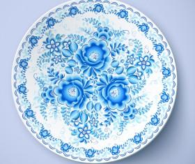 Blue and white porcelain creative design vector 01