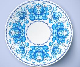 Blue and white porcelain creative design vector 02