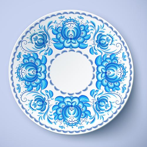blue and white porcelain creative design vector 02. Black Bedroom Furniture Sets. Home Design Ideas