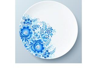 Blue and white porcelain creative design vector 03