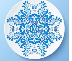 Blue and white porcelain creative design vector 04