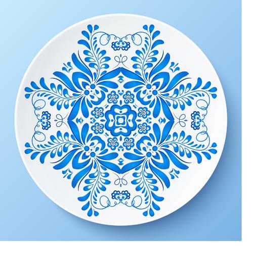 blue and white porcelain creative design vector 04. Black Bedroom Furniture Sets. Home Design Ideas