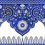 Link toBlue decorative ornaments russian style vector 04