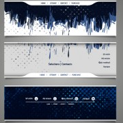 Link toBlue grunge vector banners