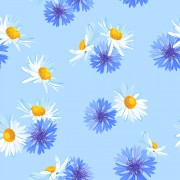 Link toBlue with white flower vector seamless pattern