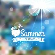 Link toBlurred summer elements background vector material 06