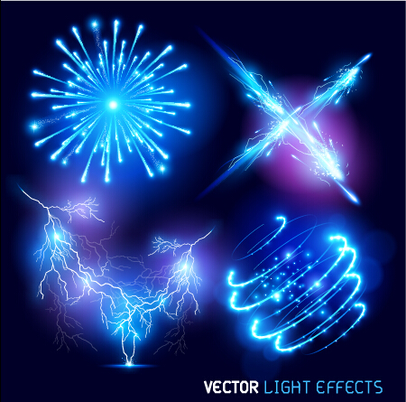 Bright fireworks effects design background vector 02