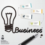 Link toBusiness infographic creative design 1793