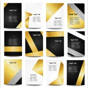 Business posters cover template vector set 01