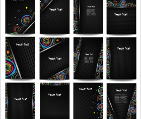 Business posters cover template vector set 02