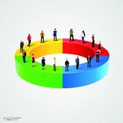 Link toBusiness team creative vector illustration set 03