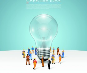 Business team creative vector illustration set 05