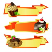 Link toCake with origami banner vector