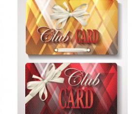 Checkered club cards design vector