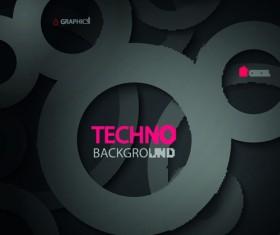 Circular tech vector background art 01