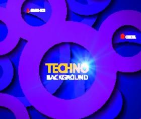 Circular tech vector background art 02
