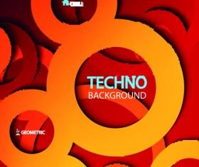 Circular tech vector background art 03