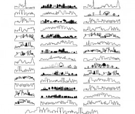 City outline and silhouette design vector