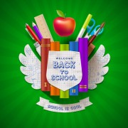 Link toClassic school background creatime vector 01
