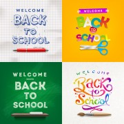 Link toClassic school background creatime vector 03