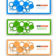 Link toColored round banner vector