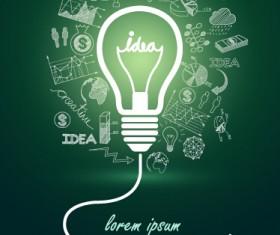 Concept idea business background vector 01