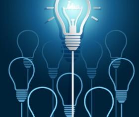 Concept idea business background vector 02