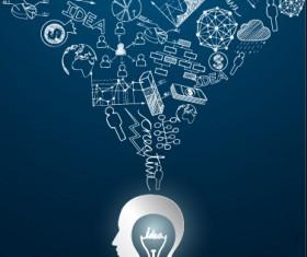 Concept idea business background vector 05