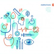 Concept medical business template vector 04