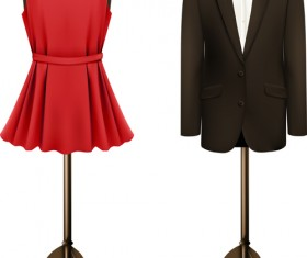 Creative evening dress vector material