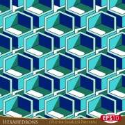 Link toCreative hexahedron vector seamless pattern vector 02
