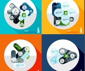 Creative infographic flat icons vector 01