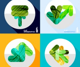 Creative infographic flat icons vector 02