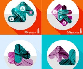 Creative infographic flat icons vector 04